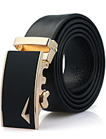 cheap -Men's Active Basic Leather Wide Belt - Solid Colored