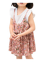 cheap -Kids Girls' Floral Short Sleeve Dress