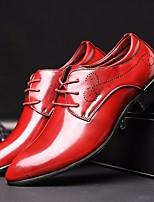 Недорогие -Муж. обувь Полиуретан Осень Удобная обувь Туфли на шнуровке Черный / Красный / Синий / Платья
