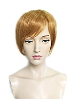 cheap -Synthetic Wig Straight Bob Haircut / Short Bob Synthetic Hair Heat Resistant / Women / Natural Hairline Brown Wig Women's Short Capless
