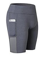 abordables -Femme Poche Shorts de Course - Blanc, Fuchsia, Gris Des sports Spandex Cuissard  / Short Tenues de Sport Léger, Séchage rapide, Design