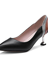 cheap -Women's Shoes Nappa Leather Fall Basic Pump Heels Stiletto Heel Pointed Toe Black / Beige / Party & Evening