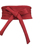 cheap -Women's Vintage Active Leather Wide Belt - Solid Colored