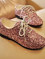 cheap -Girls' Shoes Paillette Spring Flower Girl Shoes Oxfords Sequin for Black / Silver / Pink
