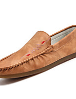 cheap -Men's Shoes PU Spring & Fall Moccasin Loafers & Slip-Ons Gray / Brown