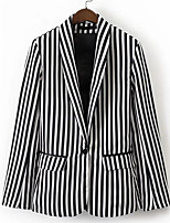 cheap -Women's Simple Blazer - Striped