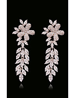 cheap -Women's Crystal / Synthetic Diamond Transparent / Long With Gift Bag - Snowflake, Coconut Tree, Clover European, Fashion White and Sliver For Street / Holiday