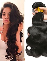 cheap -Malaysian Hair Wavy Natural Color Hair Weaves / Human Hair Extensions Gift Bag 8-28 inch Human Hair Weaves Capless Best Quality / For Black Women Natural Black Human Hair Extensions Women's