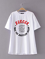 economico -T-shirt Per donna Punk & Gotico / Moda città Con stampe, Tinta unita