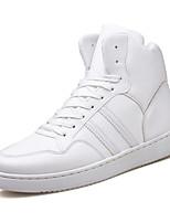 economico -Per uomo Scarpe PU (Poliuretano) Primavera / Autunno Suole leggere Sneakers Bianco / Nero
