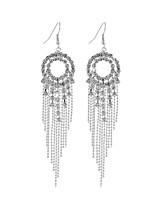 preiswerte -Damen Kristall Tropfen-Ohrringe - Quaste Silber Für Hochzeit / Party