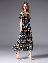 cheap -FRMZ Women's Cute / Boho Swing Dress - Floral Print