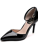 cheap -Women's Shoes Leatherette Spring & Summer Basic Pump Heels Stiletto Heel Pointed Toe Black / Silver / Wedding / Party & Evening