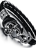 cheap -Men's Skull 1 Bangles - Vintage Geometric Black Bracelet For Gift Daily