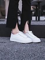 Недорогие -Жен. Обувь Кожа Весна Удобная обувь Кеды На плоской подошве Белый / Миндальный