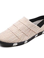 cheap -Men's Shoes Fabric Fall Light Soles Loafers & Slip-Ons for Outdoor Black Beige Brown