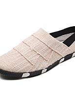 Недорогие -Муж. обувь Ткань Осень Светодиодные подошвы Мокасины и Свитер для на открытом воздухе Черный Бежевый Коричневый