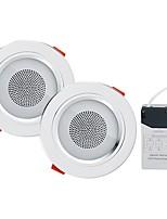 Недорогие -YouOKLight 2pcs 5W 18 светодиоды Bluetooth-динамик Встроенные LED даунлайт RGB + белый 85-265V Дом / офис