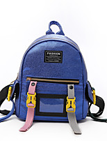 cheap -Women's Bags PU(Polyurethane) Backpack Zipper Blue / Black / Silver