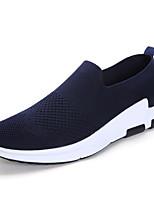 Недорогие -Муж. обувь Тюль Весна Осень Удобная обувь Мокасины и Свитер для Повседневные Черный Синий