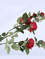 cheap -Artificial Flowers 1 Stylish / Rustic Roses Tabletop Flower