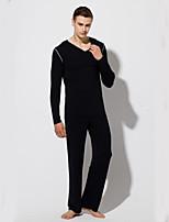 abordables -Costumes Vêtement de nuit Homme - Lacet, Couleur Pleine
