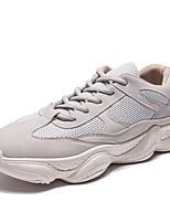 cheap -Men's Shoes Net / Tulle Summer Comfort / Light Soles Sneakers White / Khaki