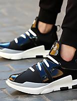 Недорогие -Муж. обувь Полиуретан Лето Удобная обувь Мокасины и Свитер Белый Черный Красный