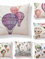 cheap -6 pcs Textile / Cotton / Linen Pillow case, Art Deco / Simple / Printing Modern Style / Square Shaped