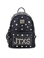 cheap -Women's Bags Oxford Cloth / Cotton / Polyester Backpack Rivet / Zipper for Outdoor Black / Military Green