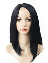 cheap -Wig Accessories / Others Straight Asymmetrical Haircut Synthetic Hair Cute / Lustrous / Women Black Wig Women's Mid Length Cosplay Wig /