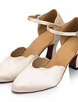 cheap -Women's Modern Shoes Silk Heel Performance / Practice Stiletto Heel Dance Shoes Beige
