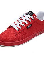 economico -Per uomo Scarpe Lino Autunno Suole leggere Sneakers Beige / Grigio / Rosso