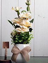 preiswerte -Künstliche Blumen 1 Ast Stilvoll Vase Tisch-Blumen