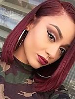 cheap -Remy Human Hair Lace Front Wig Wig Brazilian Hair Straight Bob Haircut 130% Density Women's Short Human Hair Lace Wig