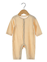 cheap -Baby Unisex Solid Colored Long Sleeves Overall & Jumpsuit