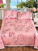 cheap -Duvet Cover Sets Floral Natural Fiber Ice Silk Jacquard 3 Piece