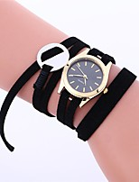 cheap -Women's Fashion Watch / Dress Watch Chinese Chronograph Leather Band Casual / Elegant Black / White / Pink