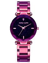 abordables -Femme Quartz Montre Bracelet Japonais Chronographe / Etanche Alliage Bande Luxe / Elégant Doré / Violet / Or Rose