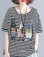 abordables -Tee-shirt Femme, Rayé - Coton Ample