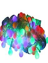 Недорогие -10 м Гирлянды 100 светодиоды Тёплый белый Разные цвета Декоративная 220-240V 1шт