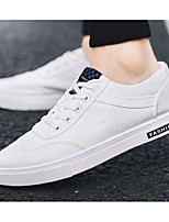 cheap -Men's Shoes Canvas Fall Comfort Sneakers White / Black / Red