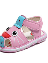 cheap -Girls' Shoes PU Summer Comfort Sandals for Outdoor Yellow Blue Pink