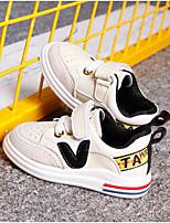 preiswerte -Mädchen Schuhe Leder Frühling Komfort Sneakers Klettverschluss für Draussen Schwarz Orange Grün