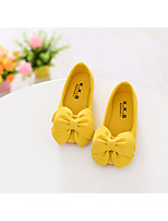 cheap -Girls' Shoes Fabric Spring Comfort / Flower Girl Shoes Flats for Black / Yellow / Pink