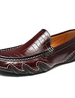 Недорогие -Муж. обувь Полиуретан Кожа Лето Формальная обувь Удобная обувь Мокасины и Свитер для Повседневные Для вечеринки / ужина Черный