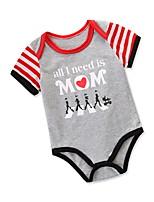 cheap -Baby Unisex Print Short sleeves Romper