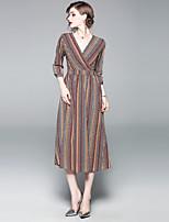 cheap -SHIHUATANG Women's Boho / Street chic Swing Dress - Geometric Print
