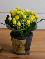 abordables -Fleurs artificielles 1 Une succursale Rustique Fleurs éternelles Fleur de Table