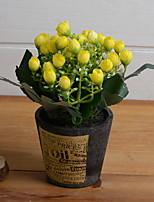 cheap -Artificial Flowers 1 Branch Rustic Eternal Flower Tabletop Flower